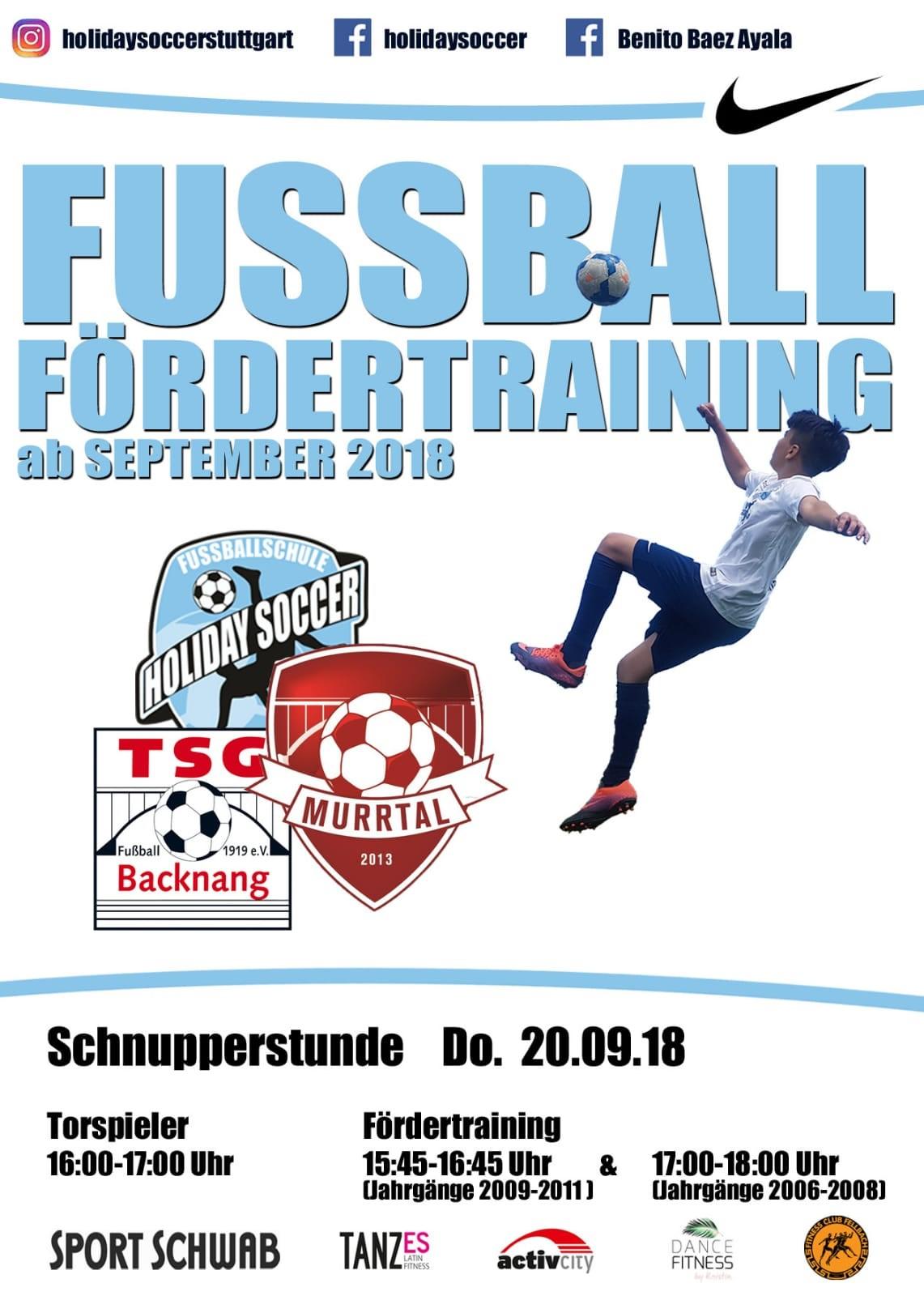 Fussballschule bei der TSG Backnang geht an den Start