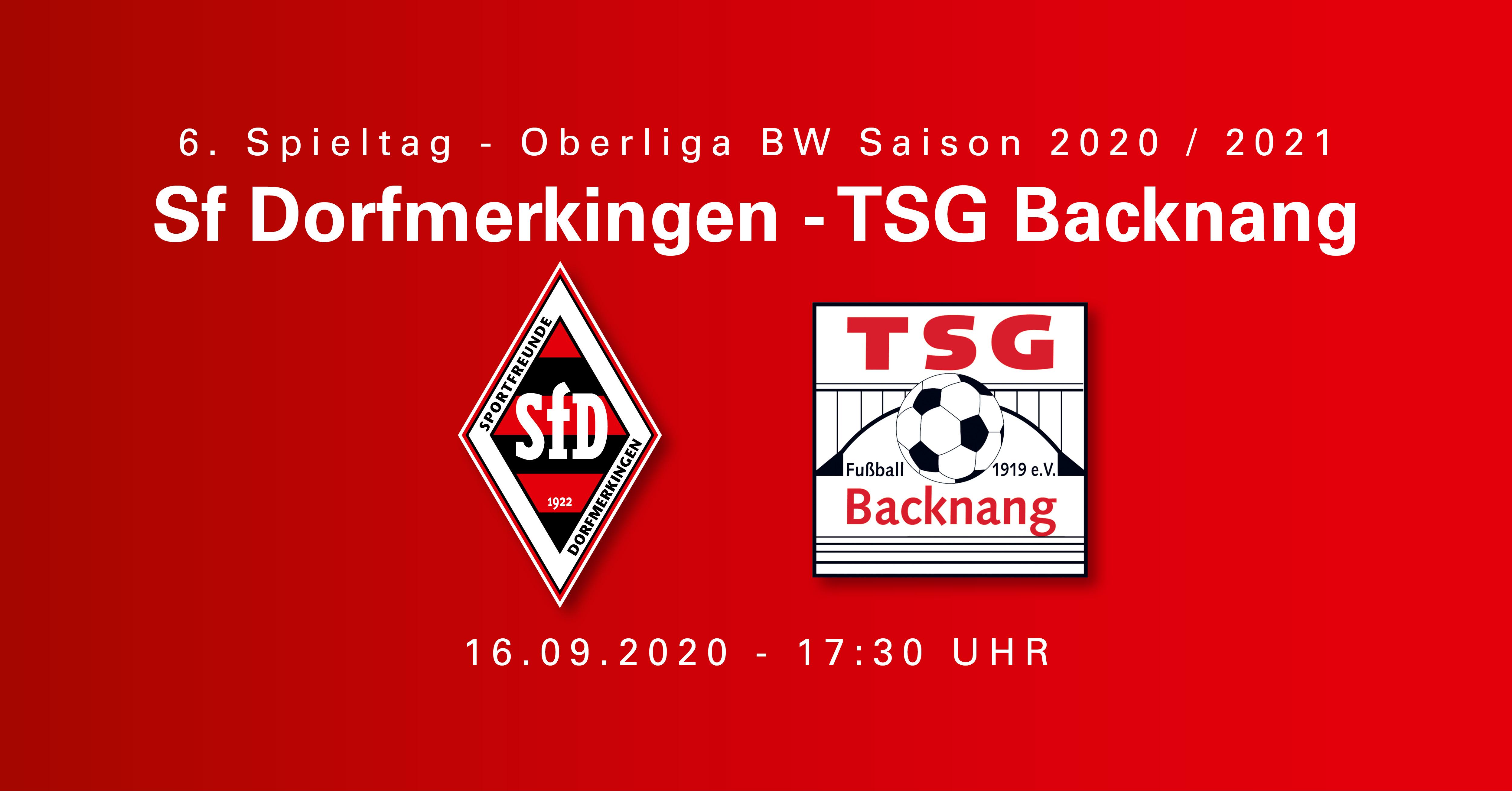 Oberliga 16.09.20: SF Dorfmerkingen - TSG