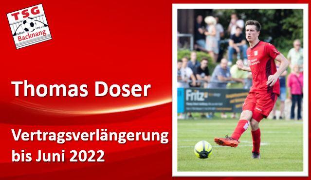 Thomas Doser verlängert seinen Vertrag um ein weiteres Jahr