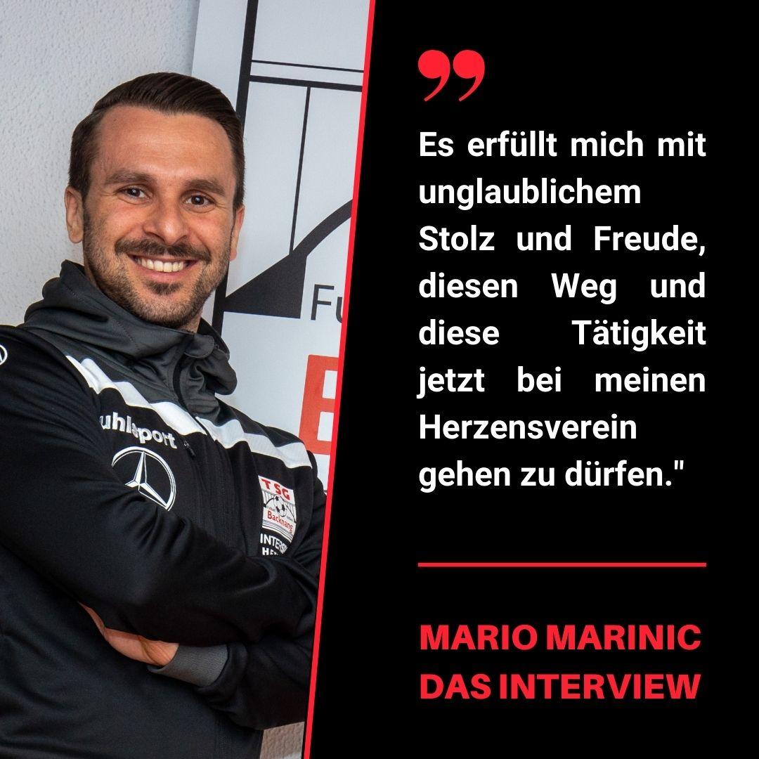 Mario Marinic im Interview zu seiner neuen Rolle im Verein!